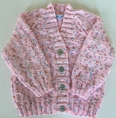 af707a751 HAND KNITTED BABY girls lacy cardigan