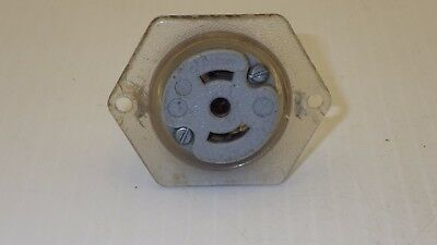 Ge Twist Lock Flanged Receptacle  Nema Ml-3 15A 125/250V~Used