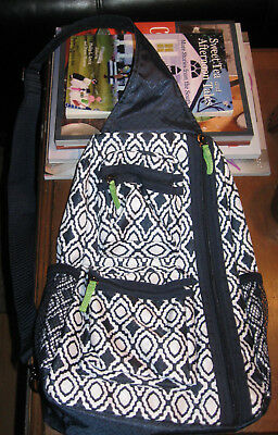 31 Thirty-One Gifts Sling-Back Bag Backpack-Navy Perfect Pendant-NWOT!