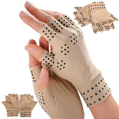 Anti Arthritis Compression  Gloves Magnetic Therapy Hand Wrist Wrap 1 Pair Black