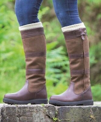 Shires Moretta Nella Smart Long Zipped Leather Country Boots  - Free Courier