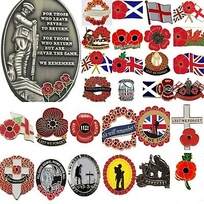 Remembrance Day Poppy Pin Badges For Poppy Appeal