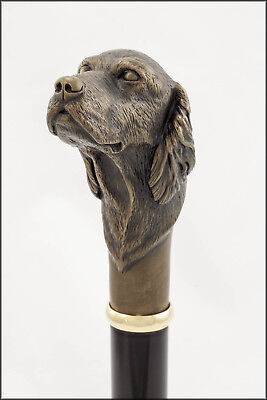 Setter collectable cane - Bronze head, Aluminium shaft.