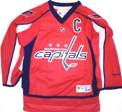 Maillot jersey de hockey sur glace NHL Washigton CAPITALS 8 OVECHKIN 10 12 ans
