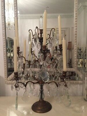 Louis Style Massive Metal And Glass Chandelier.+ 8 Kenneth Turner Candles