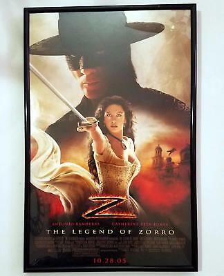 THE LEGEND OF ZORRO 2005 Antonio Banderas 11 x 17 FRAMED MOVIE POSTER  Pre-Own