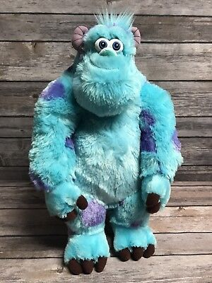 "Disney Store Pixar Sully Monsters Inc Sulley Plush Stuffed Animal Toy 14"" VGC"