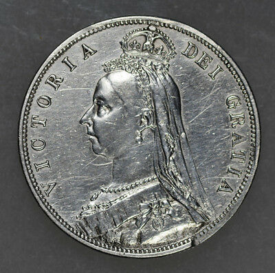 Great Britain 1/2 Crown, 1887 *Damaged, Reverse mount removed*