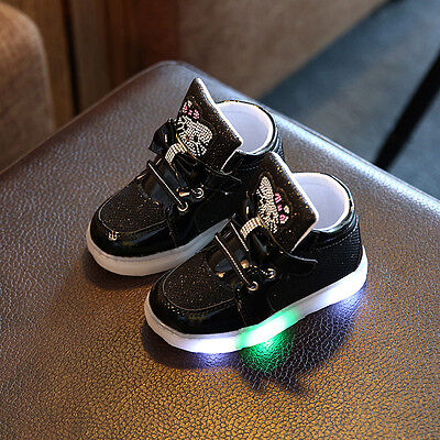 Kids Boys Girls Light Up LED Luminous Shoes Baby Outdoor Sport Sneakers