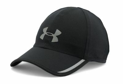 Under Armour Men's Shadow Hat Black Gray Adjustable Cap ArmourVent Run 1278207