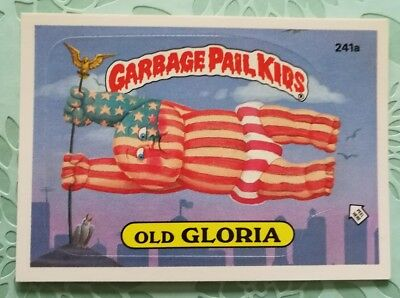 Topps Garbage Pail Kids Card Old Gloria 241a Original Series 6 1986 Combine Ship