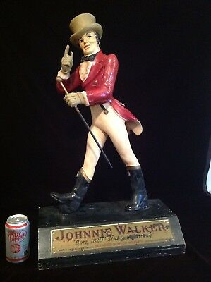 """Antique Large Johnnie Walker Store Display Early 20Th Century 28"""" Tall"""