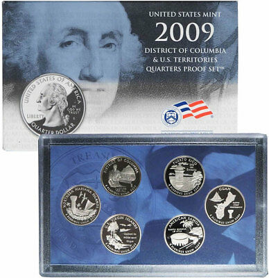 2009-S Territorial 6 Coin Proof Quarter Set Original Packaging W/COA