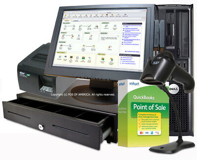 Complete Hardware Touchscreen Bundle for Quickbooks POS Basic PRO MULTISTORE