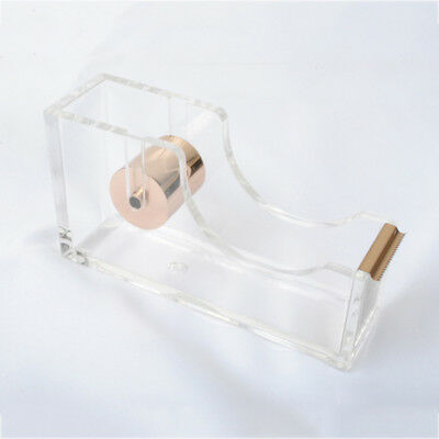 Acrylic Heavy Duty Tape Dispenser Desktop Office Sellotape Cellotape Pack Holder
