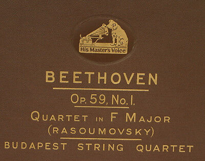 "BUDAPEST STRING QUARTET Beethoven: Quartet in F Major ""Rasoumovsky"" Op. 59  A302"