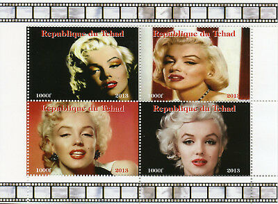 Chad 2013 MNH Marilyn Monroe 4v M/S Movie Stars Celebrities Stamps