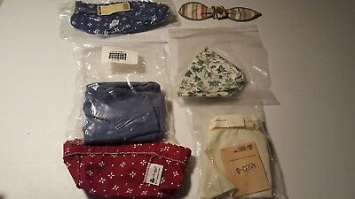 Longaberger basket fabric liners lot of 5
