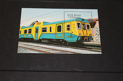 Guinea - Bissau 1989 Trains/locomotives M/sheet   Very Fine M/n/h