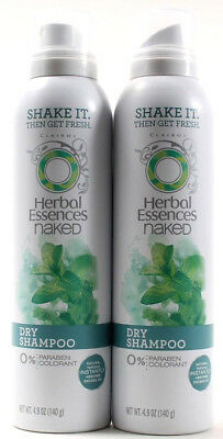2 Clairol Herbal Essences Naked Dry Shampoo 0 Paraben Or Colorant 4.9 Oz.