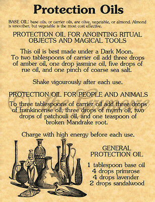 PROTECTION FOR BOS Wicca Book of Shadows Parchment pg Pagan