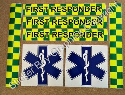 First Responder Magnet Magnetic Rescue Community Ambulance Paramedic KIT PACKAGE