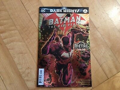 BATMAN THE RED DEATH #1 Foil Cover First 1st Print Metal Tie-In