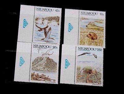 Niuafo Ou 1988 Islands Of Polynesia Birds,whales Set Of 4 Fine M/n/h