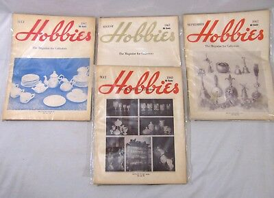 Lot of 4 VINTAGE HOBBIES THE MAGAZINE FOR COLLECTORS 1967 - 68