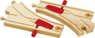 BRIO World 33344 - Mechanisches Weichenpaar -