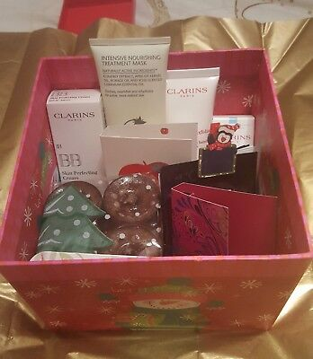 Clarins and Liz Earle pamper christmas hamper beauty luxury treat/gift for women