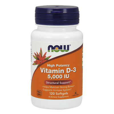 NOW FOODS  Vitamin D-3 5,000 IU 120 Softgels - vitamina D