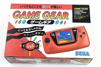 Game Gear Red System Sega Japan Very Good