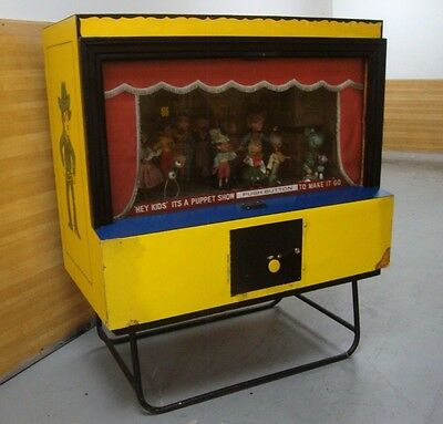 Arcade Puppet Show Used Motor Not Working All Parts There And Original Puppets