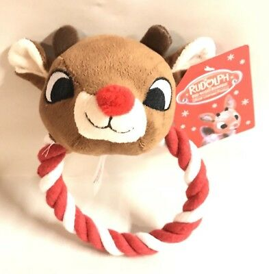 New Rudolph The Red Nosed Reindeer Plush Christmas Dog Toy Gift New
