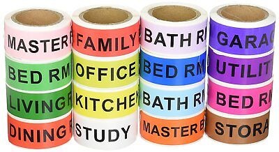 16 Rolls Home Moving Labels Packing Supply Tape Color Coding Labeling 14 Fragile