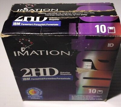 """Imation 2HD 3.5"""" Formatted Blank Floppy Disks - 10 Pack -"""