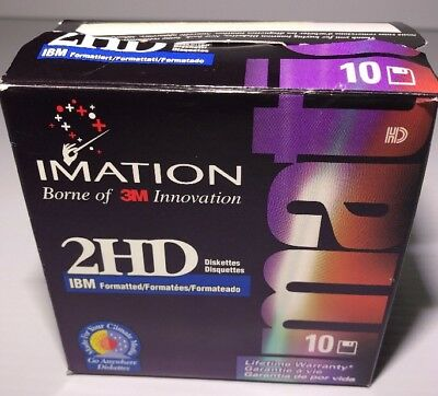 """Imation 2HD 3.5"""" Formatted Blank Floppy Disks - 10 Pack"""