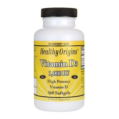 Healthy Origins Vitamin D-3 1000iu 360 softgels - vitamina D3