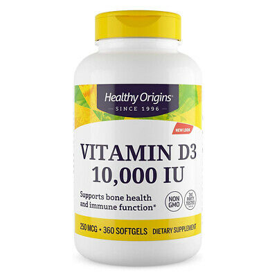 Healthy Origins Vitamina D-3 D3 10000 IU - 10,000iu 360 softgels - VITAMINE