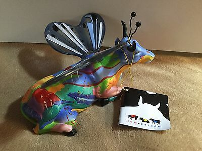 "Cow Parade Figurine "" Butterfly "" cow ( #7289 - Retired and RARE )"