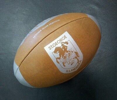 Steeden St George Illawarra Dragons Laced Leather Team Heritage Rugby Ball *NEW*