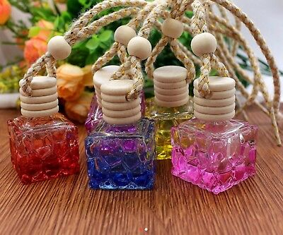 Glass Oil/perfume Diffuser Bottle 10ml Pack Of 10 Assorted Colours
