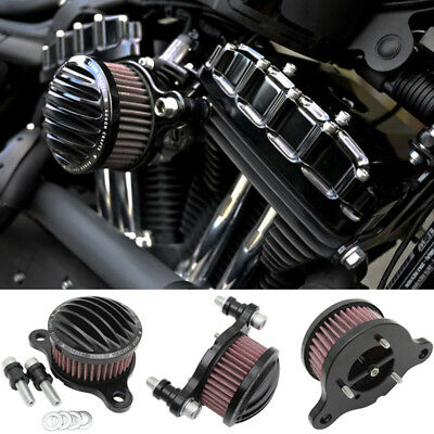New Air Cleaner Intake Filter System Kit For Harley Sportster XL883 XL1200 88-14