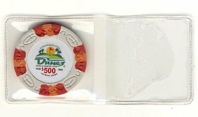 50 Vinyl Flips For Collector Casino Chips Holds both 39mm-40mm Chip