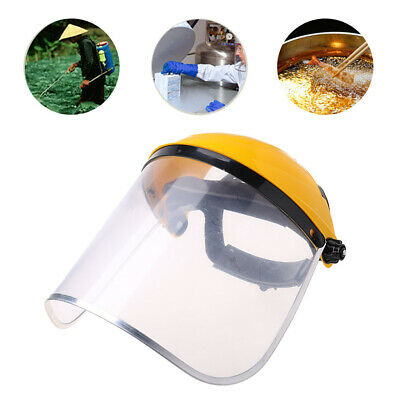 Clear Full Face Shield Safety Helmet Visor Mask For Construction Automotive