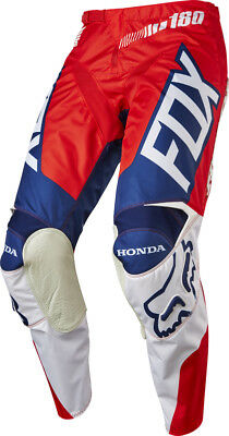 Fox Racing 180 Honda 2017 Red - Blue - White  Mx Off Road Pants Crf Cr Size 38