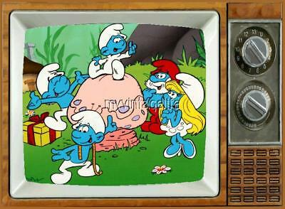 "SMURFS TV Fridge MAGNET 2"" x 3"" art SATURDAY MORNING CARTOONS"