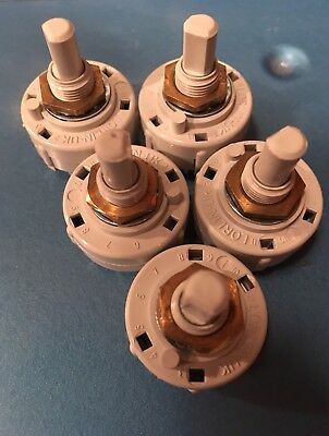 (5-pack) Lorlin 2P6T Rotary Switch-PCB Mount