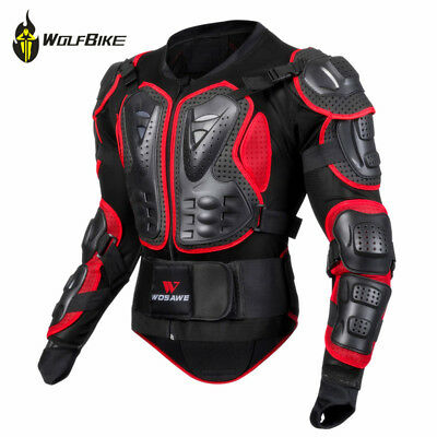 Motorcycle Motocross Enduro Jacket ARMOURED BODY ARMOUR Spine Protector Guard